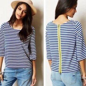 {M}Anthro Postmark Genoa Blue & White Stripe Shirt